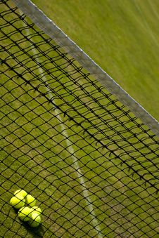 Free Perspective View Of Tennis Net. Royalty Free Stock Image - 15892426