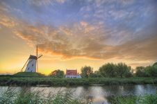 Free Windmill In Damme,bruges Belgiumm Stock Images - 15892564