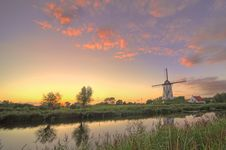 Free Windmill In Damme,bruges Belgiumm Stock Image - 15892611