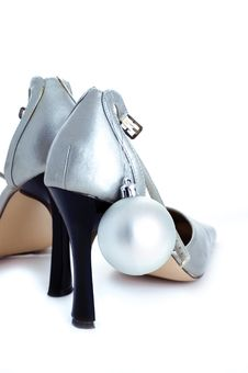Free Silver Shoes Stock Images - 15892934