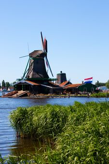 Mills In Holland Stock Image