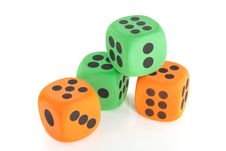 Free Stacked Dice Stock Photo - 15893310