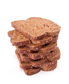 Slices Of Wholemeal Cereal Bread Royalty Free Stock Photos