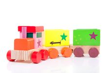 Free A Colorfol Wooden Toytrain Stock Photography - 15893382