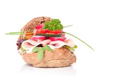Free A Healthy Sandwich Royalty Free Stock Photo - 15893445