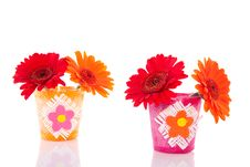 Free Red And Orange Gerbera Daisies Stock Photos - 15893493