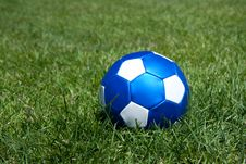 Free A Blue Leather Football Stock Images - 15893534