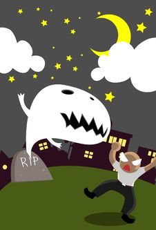 The Ghost Of Halloween Royalty Free Stock Images