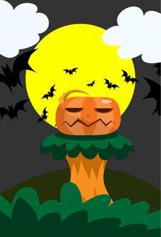 Free Pumpkin On Podium Royalty Free Stock Images - 15894699
