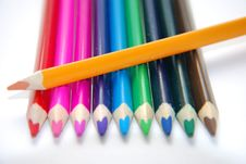Free Colorful Crayon Royalty Free Stock Photos - 15895368