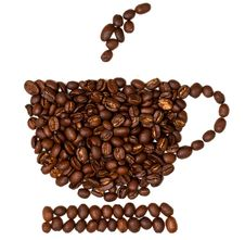Free Coffee Beans Shaped In To A Coffee Cup Stock Photo - 15895680