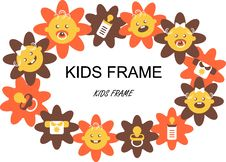 Free Flower Baby Frame Label Stock Images - 15895724
