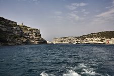 Free France, Corsica, Bonifacio Port Entrance Royalty Free Stock Image - 15895746