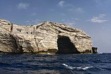 Free France, Corsica, Bonifacio Rocky Coastline Royalty Free Stock Image - 15896356