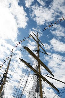 Free Ship Masts And Sky Stock Image - 15896531