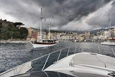 Free France, Corsica, Bastia, View Of The Port Royalty Free Stock Photos - 15897478