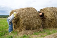 Free Haystack Royalty Free Stock Photos - 15898038