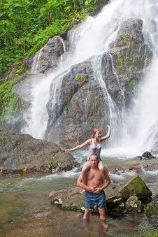 Free Rest At The Waterfall Royalty Free Stock Photos - 15898058