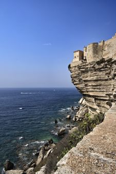 Free France, Corsica, Bonifacio, View Of The Coast Royalty Free Stock Photos - 15898398