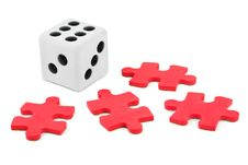 Free Dice And Puzzle Stock Photo - 15898870