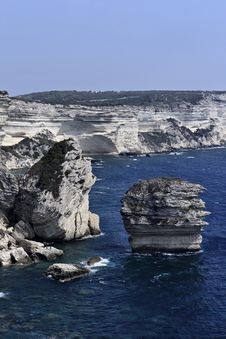 Free France, Corsica, Bonifacio Rocky Coast Stock Images - 15898924