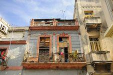 Free Shabby Havana Facade Royalty Free Stock Image - 15899716
