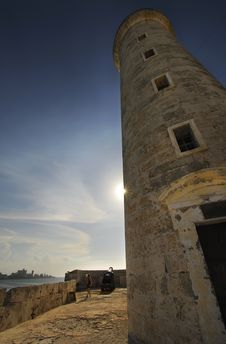 Free Lighthouse From El Morro Fortress In Havana Royalty Free Stock Photography - 15899887