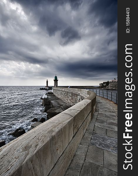 France, Corsica, Bastia, view of the port