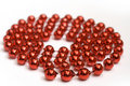 Free Red Beads On White Background Stock Image - 1593281
