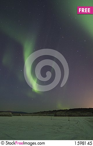 Free Streaks Of Northern Lights Royalty Free Stock Photo - 1598145