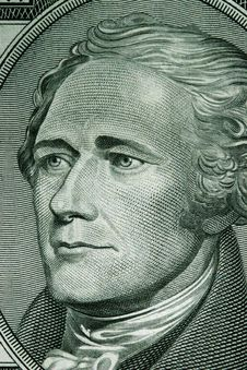 Free Close-up Of A Ten Dollar Bill Stock Photos - 1590123