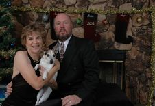 Free Family Photo At Christmas Time With The Dog Stock Photo - 1592070