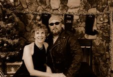 Free Biker Boy And His Woman Royalty Free Stock Photos - 1592088