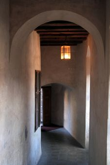 Castle Hallway Royalty Free Stock Images