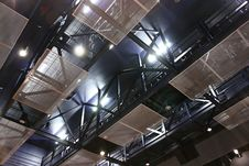 Theater Ceiling Steel Structure Stock Images