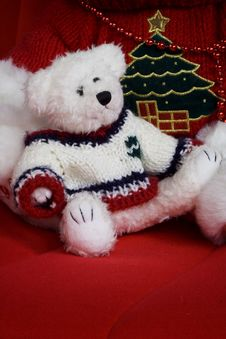 Free Christmas Teddy Stock Photography - 1593152