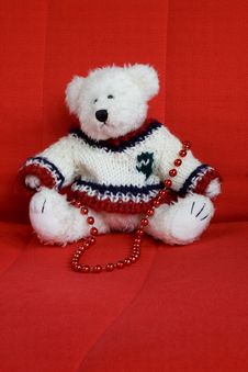 Free Christmas Teddy Bear Royalty Free Stock Photography - 1593167