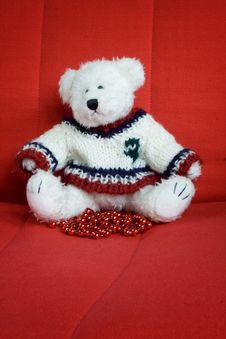 Free Christmas Teddy Bear Royalty Free Stock Photography - 1593187