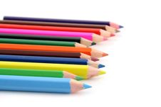 Free Colored Pencils On A White Background Stock Photography - 1593412