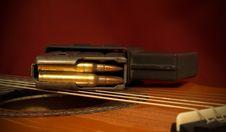 Gun And Music Stock Image