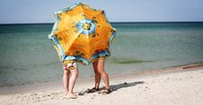 Free Bright Umbrella Royalty Free Stock Photography - 1593587
