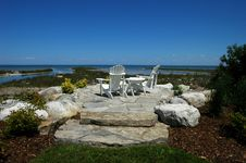 Free Water, Rock, Chairs Royalty Free Stock Images - 1594869