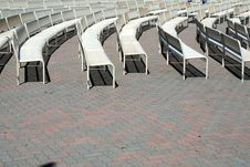 Free Curved Benches Royalty Free Stock Photo - 1595155