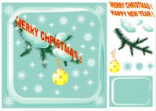 Christmas Design Elements. Royalty Free Stock Photography