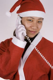 Free Santa Claus Calling Stock Photography - 1596222