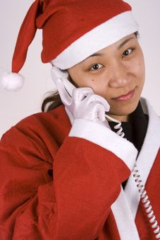 Free Santa Claus Calling Royalty Free Stock Photos - 1596238