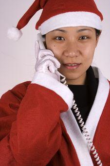 Free Santa Claus Calling Royalty Free Stock Image - 1596246
