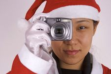 Free Santa Claus With Camera Royalty Free Stock Photography - 1596247