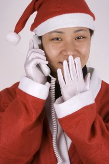 Free Santa Claus Calling Royalty Free Stock Images - 1596249