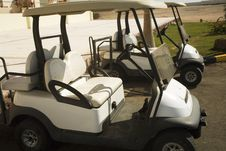 Free Electrocars For Movement On Fields For A Golf Stock Images - 1596864